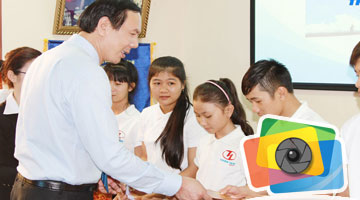 Thien Tan Group give Tet gifts to students of Horizon Dream