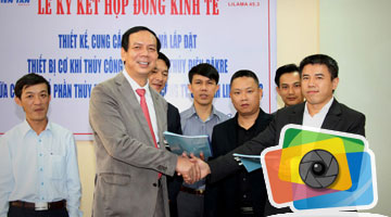 Signing ceremony of economic contract between Thien Tan Group and Lilama 45.3