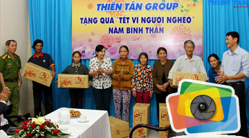 Thiên Tân Group Tet gifts for the poor in Nghia Chanh ward 2016