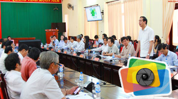 Thien Tan Group report to the Provincial Party Committee about Thien But park and Thien Tan ecology urban