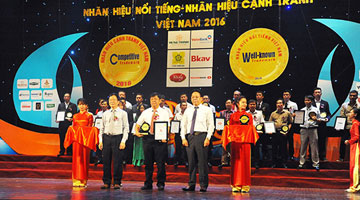 "Thien Tan Group become one of 50 well-known brands in the Certification award Ceremony ""Famous brand – Vietnam Competitive brand"" in 2016"