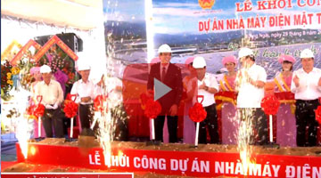 The groundbreaking ceremony of Thien Tan solar power plant on 29/08/2015
